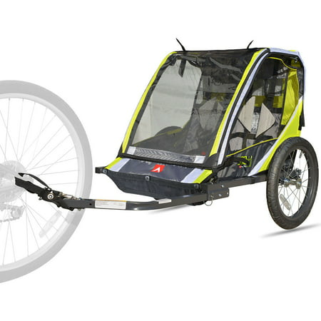 Allen Sports Deluxe 2-Child Bike Trailer - Green (Allen Bike Racks Folding Bicycle)
