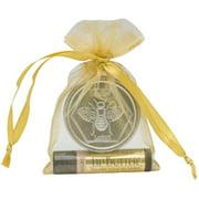 Honey House Naturals GLB2N 2 Piece Gift SetSmall Natural Bee BarNatural Lip Butter, Organza Bag