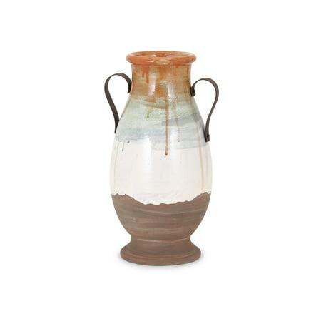 Chic Morrison Medium Vase with Metal Handles