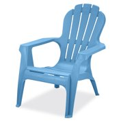 US Leisure Resin Adirondack Plastic Patio Furniture Chair, Blue
