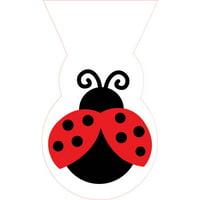 Creative Converting Ladybug Fancy Favor Bags, 12 ct