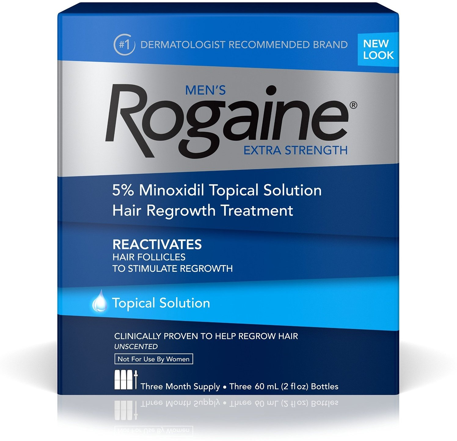 6 Pack - Rogaine Men's Extra Strength 3 Month Supply, Unscented 6 oz