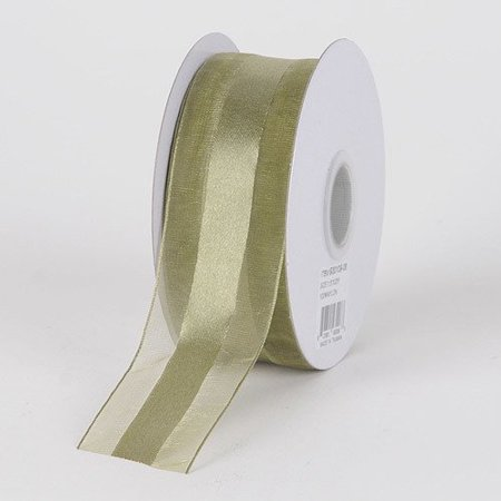 BBCrafts 5/8 inch x 25 Yards Satin Center Organza Ribbon Decoration Wedding Party (Willow), Ship in 1 Business Day. By Generic (Party Center Salem Nh)