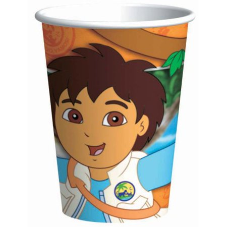 Go Diego Go! 9oz Paper Cups (8ct) (Go Diego Go Party Supplies)