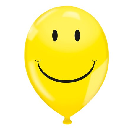 17 Latex Balloons Yellow Smiley Face Balloon Pack Of 72
