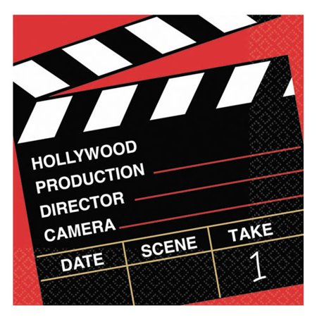 Hollywood 'Director's Cut' Small Napkins (16ct) (Cut Napkin)