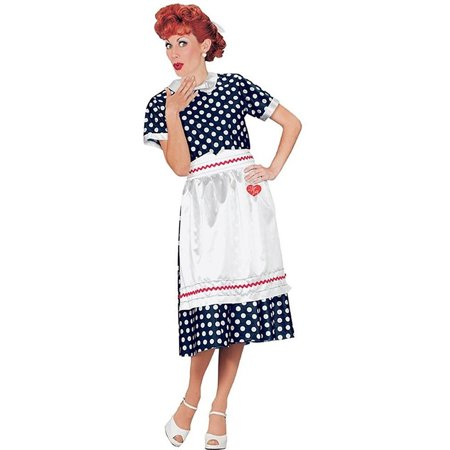 I Love Lucy Dog Costume (I Love Lucy Polka Dot Dress Adult Halloween)