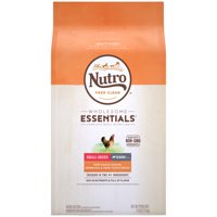 NUTRO WHOLESOME ESSENTIALS Small Breed Senior Natural Dry Dog Food, Farm-Raised Chicken, Brown Rice & Sweet Potato Recipe, 5 lb. Bag
