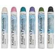 """Shiva Artists Oil Color Paintstick Set, 4.5"""" x 0.62"""", Assorted Iridescent Colors, Multiple Set Sizes"""