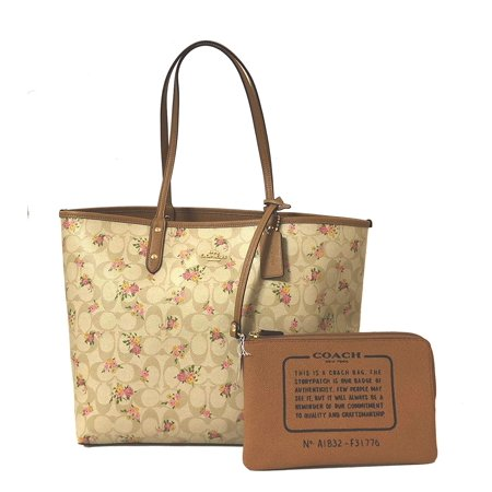 Coach F31776 Reversible PVC City Signature Tote (IM/Light Khaki Multi)