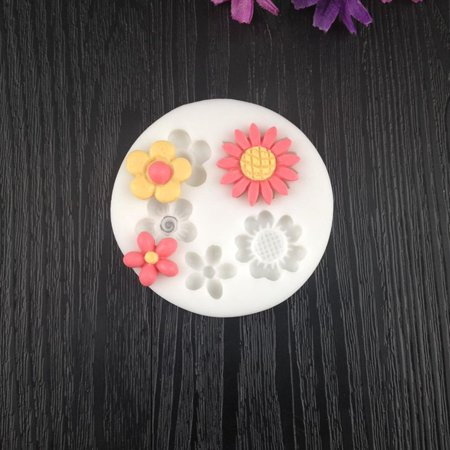 Wild cute small flower mold Silicone Mold Chocolate baking Tools Non-stick - image 6 of 6
