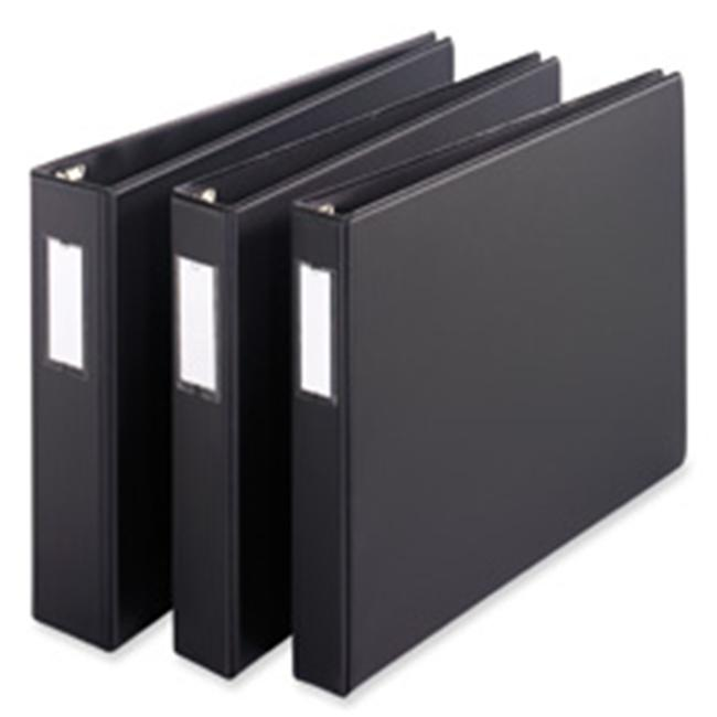 Cardinal Brands- Inc  Slant-D Reference Binder- 3-Ring- 1in. Capacity- 11in.x17in.- BK