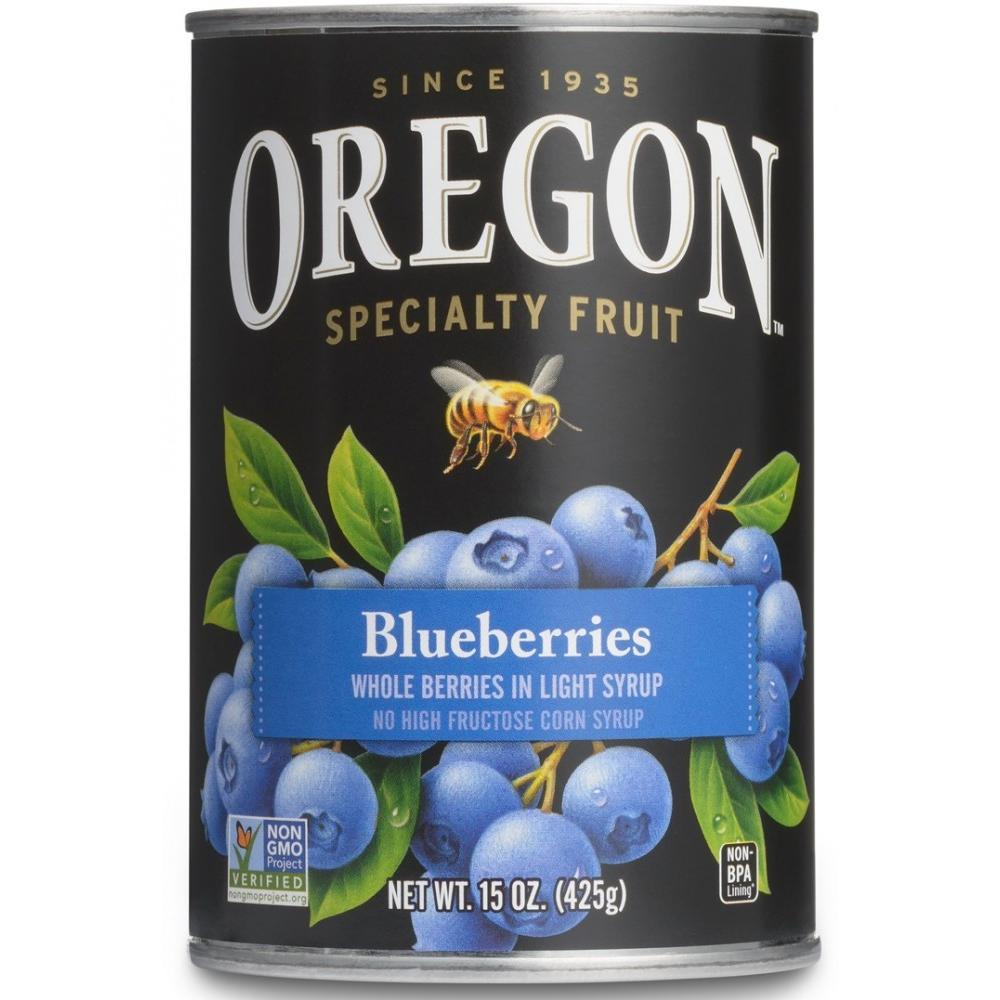 Oregon Fruit Products Blueberries In Light Syrup, 15 oz (Pack of 8)