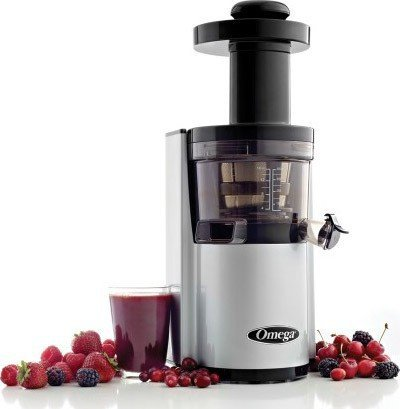Omega OMVSJ843RS Vertical Juicing System, Silver