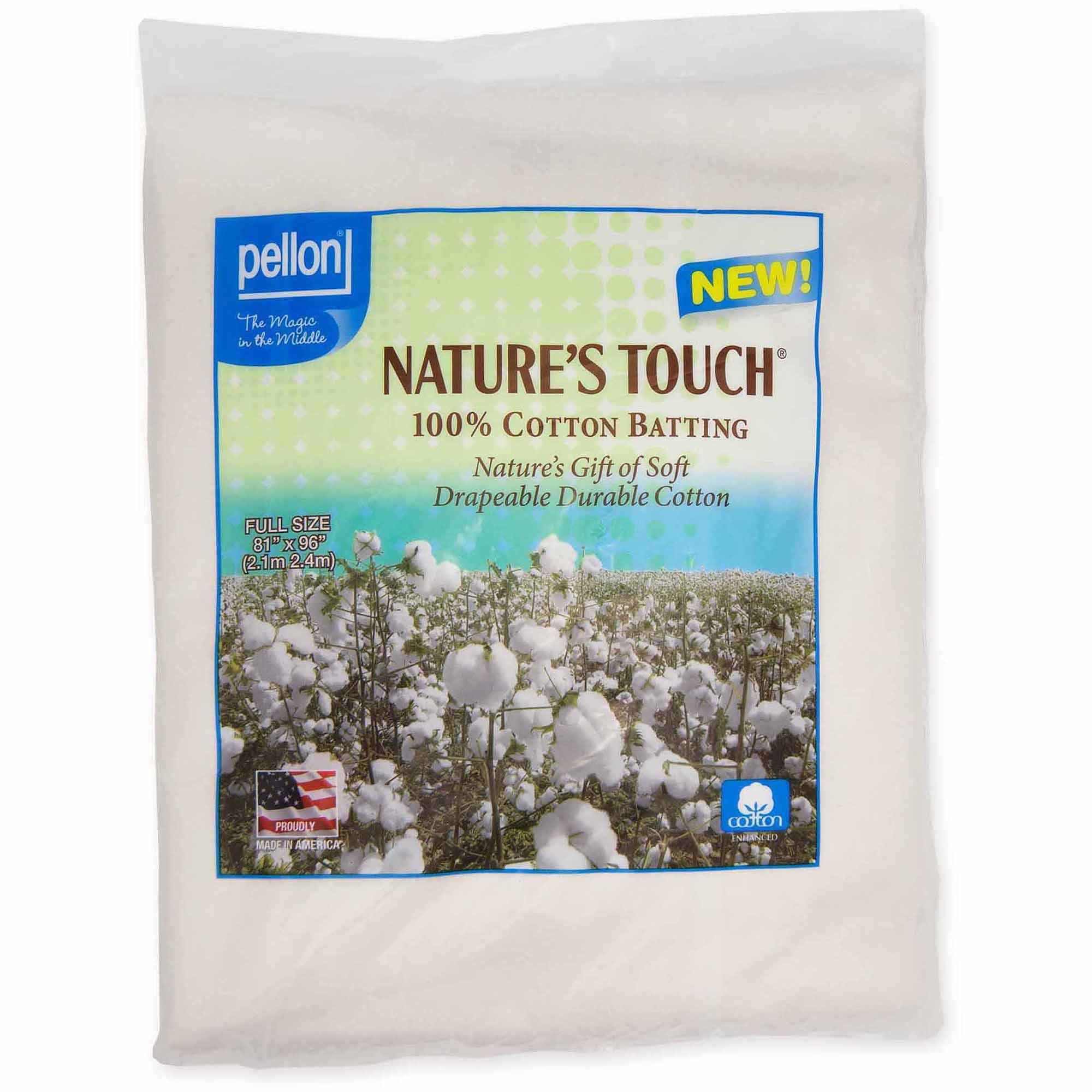 Pellon Nature's Touch 100 Percent Natural Cotton Batting with Scrim