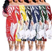 Women's Fashion Design Traditional African Clothing Print Dashiki Nice Neck African Dresses