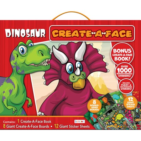 Dinosaur Create a Face Kit, Holiday Gift for Kids, Ages 3+