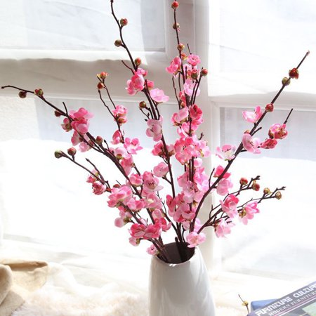 Tuscom Artificial Fake Flowers Plum Blossom Floral Wedding Bouquet Home Decor Pink