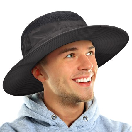 99675e12 Sun Protection Boonie Hat Wide Brim Summer Outdoor Bucket Cap for Hiking  Safari Gardening