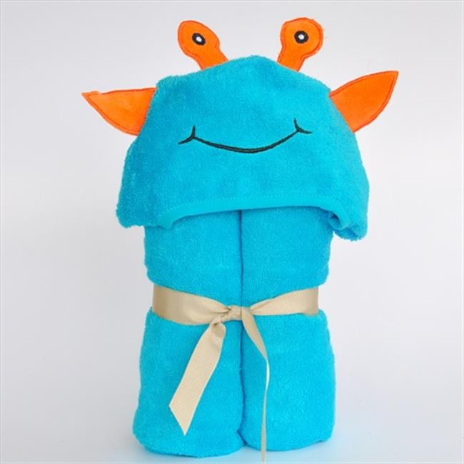 Little Ashkim BHTA002 Little Kid Alien Hooded Bamboo Turkish Towel - Turquoise, 2T-5T
