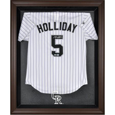 Colorado Rockies (2017-Present) Brown Framed Logo Jersey Display Case