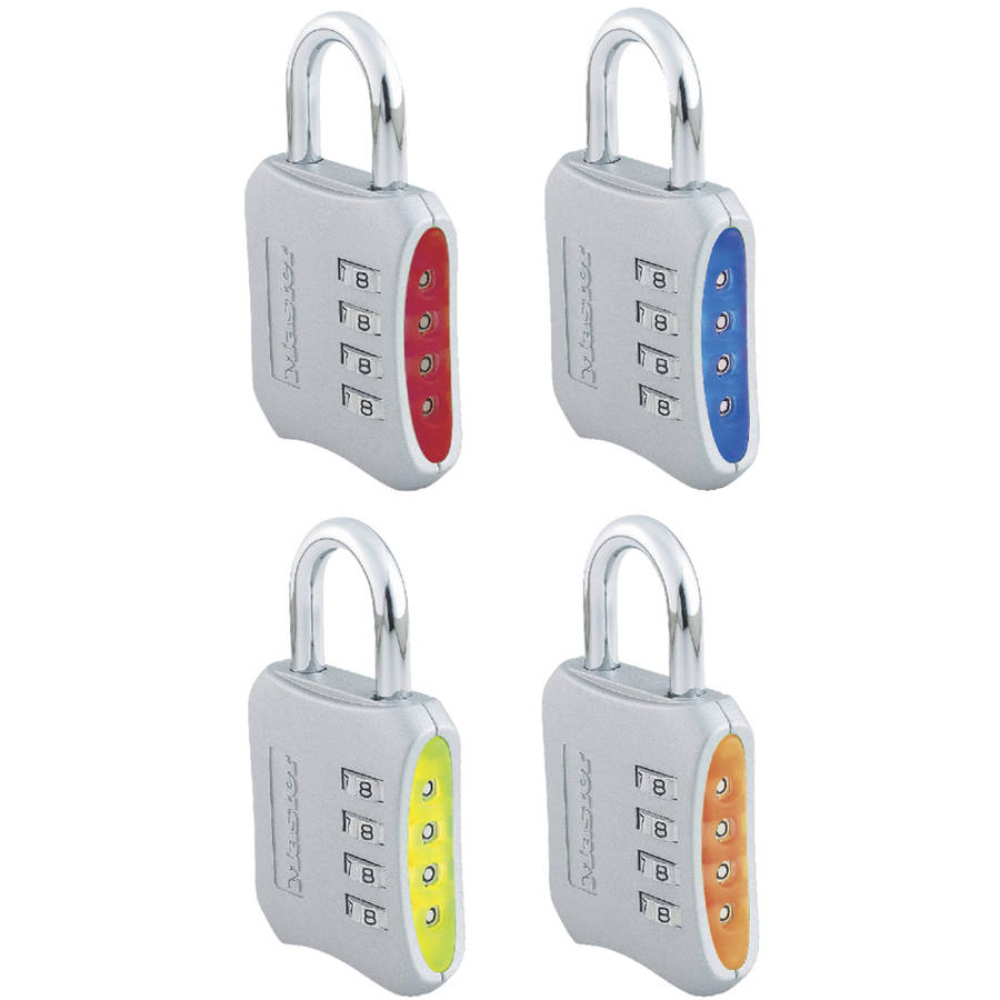 Master Lock 653D Master Lock Set Your Own Combo Padlock Assorted Colors