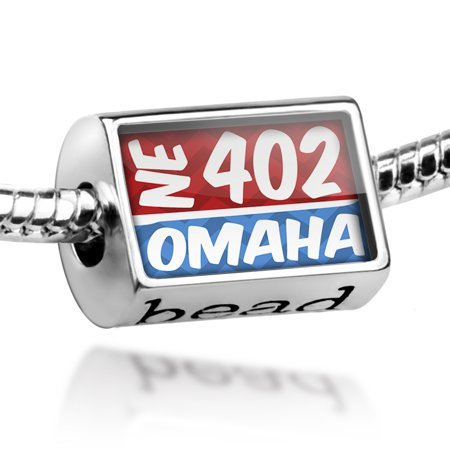 Bead 402 Omaha, NE red/blue Charm Fits All European Bracelets - Party America Omaha Ne