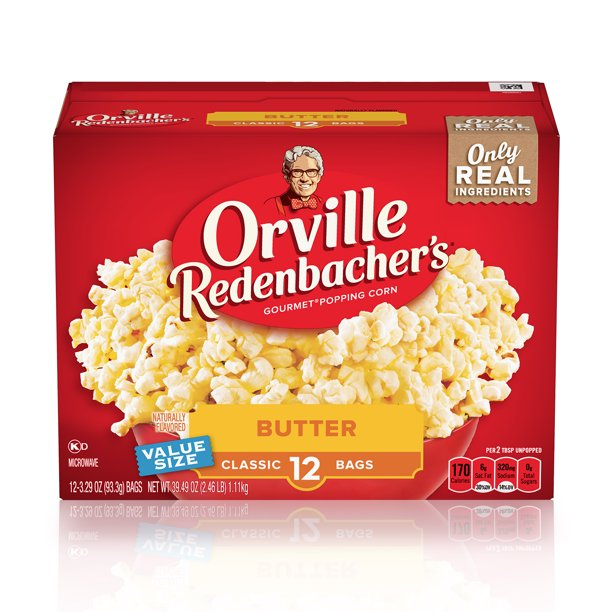 Orville Redenbachers Butter Microwave Popcorn 3.29 Oz 12 Ct