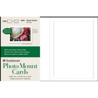 ST105-682 Embossed Photo Mount Cards 100-Pack, Strathmore ST105-682 Embossed Photo Mount Cards 100-Pack By Strathmore Impressions Embossed Cardstock