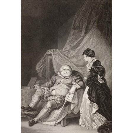 Posterazzi DPI1872431 King Henry VIII with His Sixth Wife, Catherine Parr From A Nineteenth Century Print Poster Print, 12 x 17 - image 1 de 1
