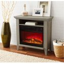 Mainstays Infrared Quartz Fireplace Heater with Storage Shelf