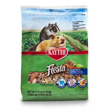Fiesta Hamster And Gerbil Food, 2.5-Lb Bag, Shapes And Textures Support Dental Health Through Natural Chewing Activity By - Kaytee Fiesta Shape