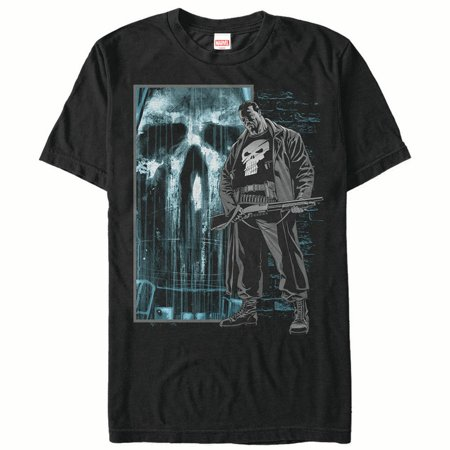 Marvel Men's The Punisher in Shadows T-Shirt (Punisher Shirt)