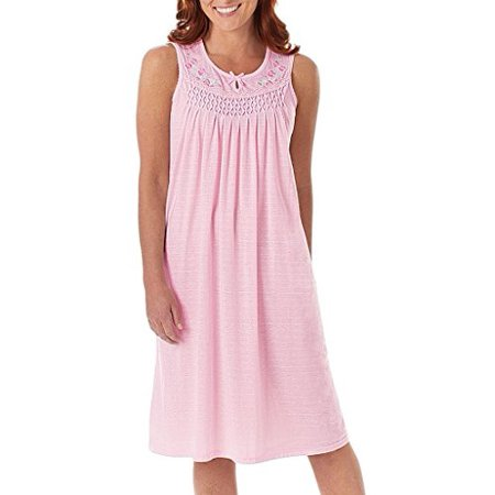 9dad5043b Ezi - Women s Cotton Sleeveless Nightgown By - Walmart.com