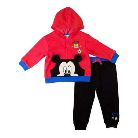 Mickey Mouse Outfit For Boys (Disney Infant Boys Baby Outfit Red Mickey Mouse Hoodie & Sweat Pants)