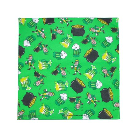 Print Bandanas (size  one size st. patrick's day party print)
