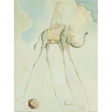 L'Elephante Giraffe Art Print By Salvador Dalí - 24x31