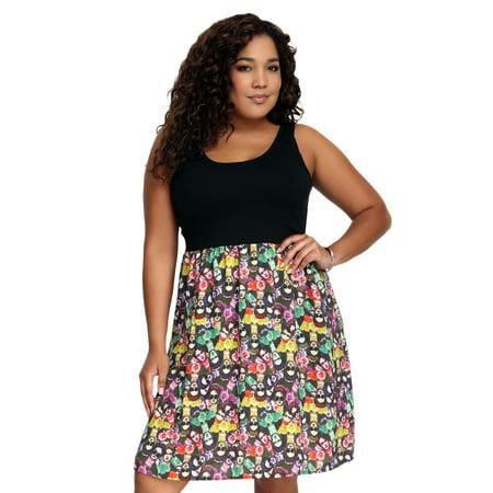 Frida Kahlo Challis Juniors Plus Size Tank Dress