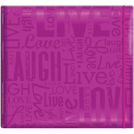 "MBI Gloss Post Bound Album 12""X12""-Live, Love & Laugh - Bright Purple"