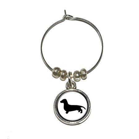 Dachshund - Weiner Dog Wine Glass Charm