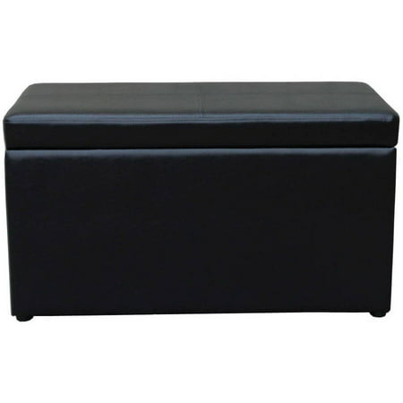 Better Homes And Gardens 30 Inch Hinged Storage Ottoman   Brown