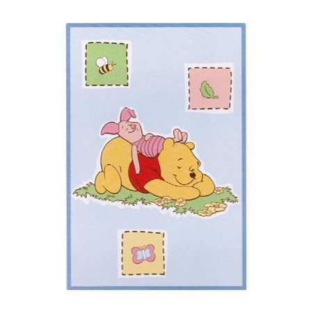 Baby Nursey Accessories Disney Baby Winnie the Pooh Bedtime Stories Luxury Blue Plush Throw Blanket Baby Luxury Plush Throw