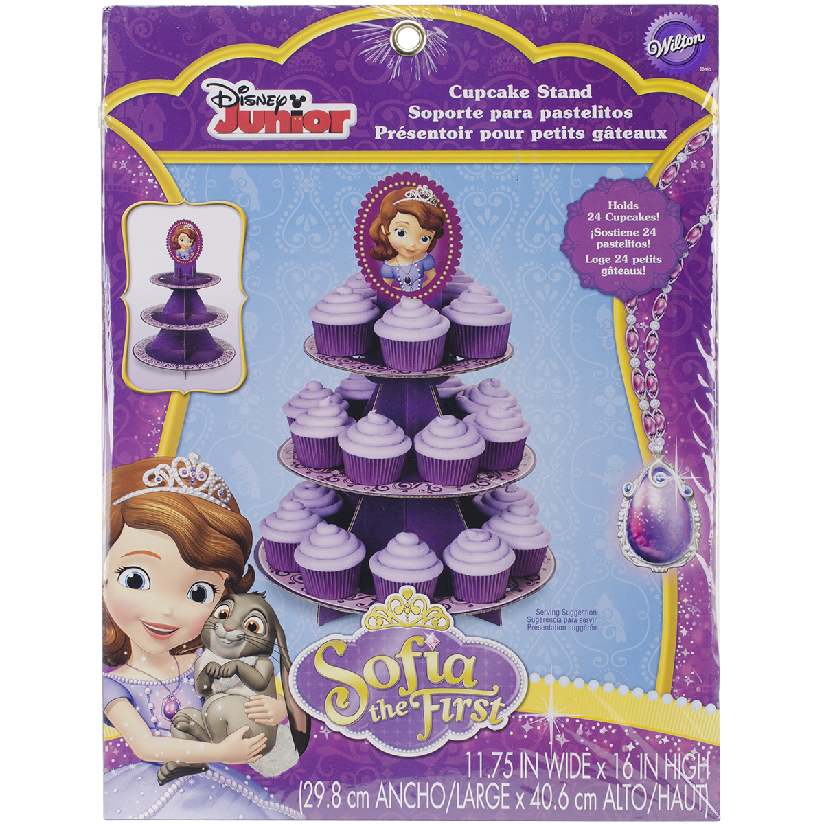 Wilton Disney 3-Tier Treat Stand, Sofia The First 1512-1664