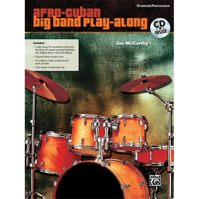 Alfred 00-31883 Afro-Cuban Big Band Play-Along for Drumset-Percussion Music Book by Alfred Publishing