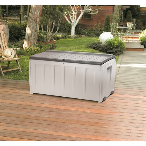 Keter North America 17185300 90 Gallon Deck Box with Seat