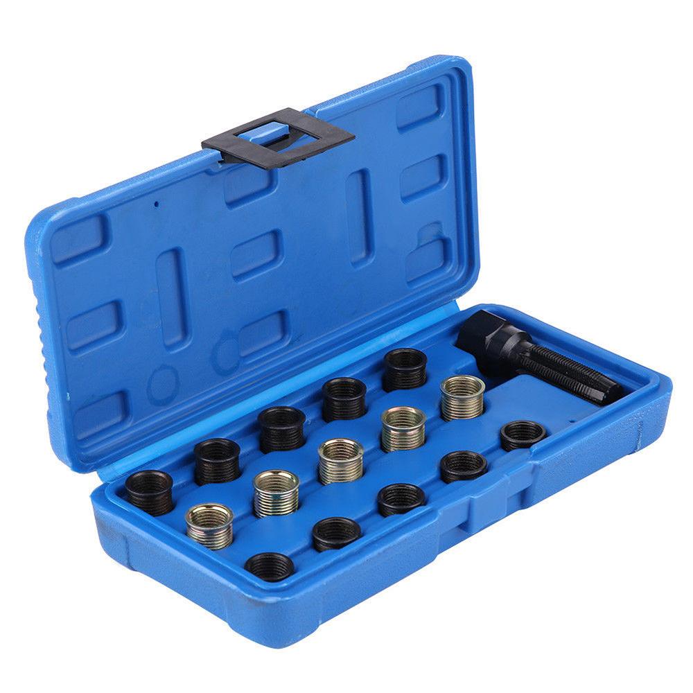 M14 X 1.25 Professional Spark Plug Threaded Coil Insert Repair Tool Kit