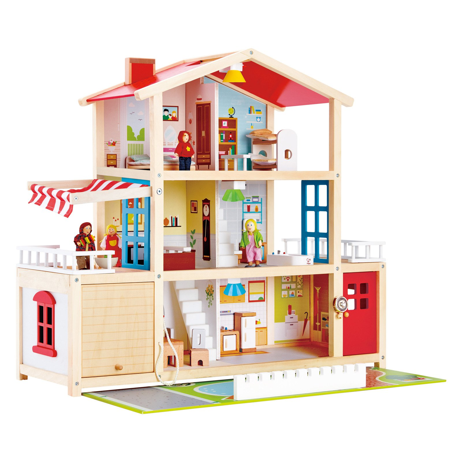 HAPE Doll Family Mansion Toy Dollhouse