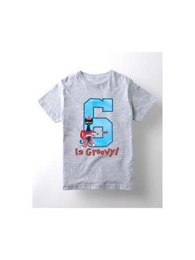 Pete The Cat 6Th Birthday Boys - Youth Short Sleeve Tee