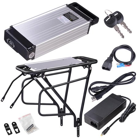 - 48V 14AH Lithium Electric Bicycle Battery Rear Rack Type w/ Holder Charger For 48V 1000W Bike