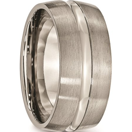 JbSP- Titanium Grooved 10mm Brushed and Polished Band - image 5 of 6
